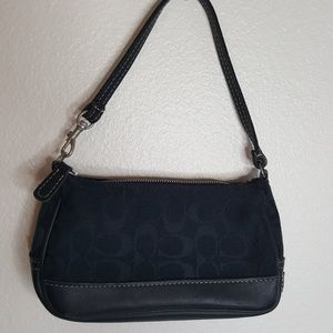 Coach black C monogram mini purse